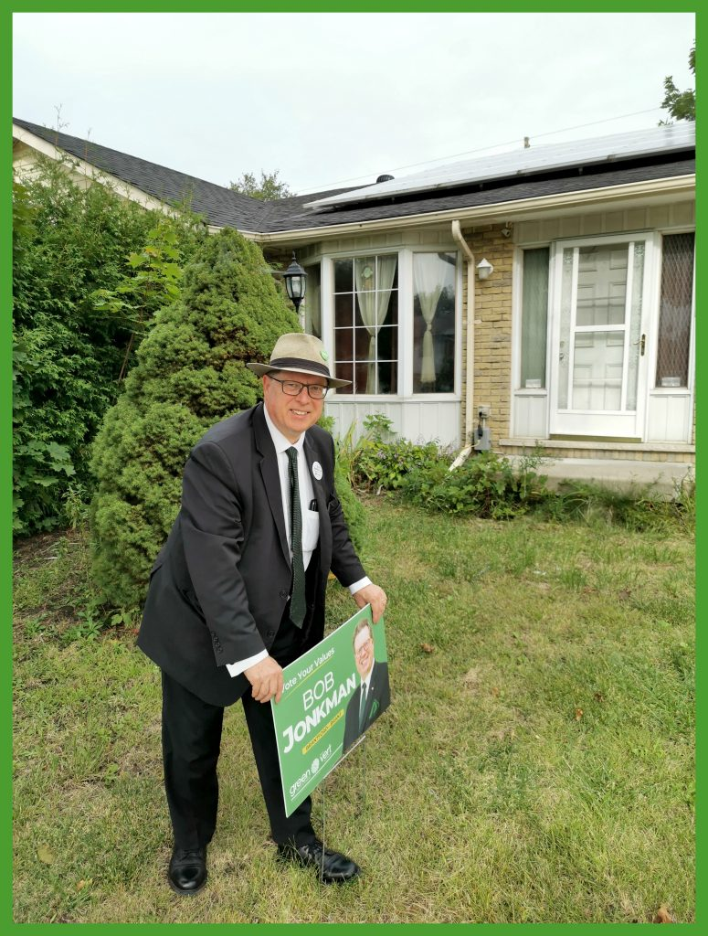 Bob puts up his first 2019 election sign