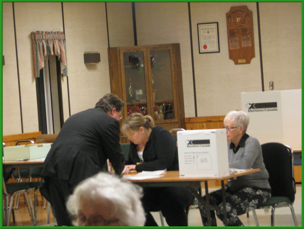 Go to your assigned poll and get the Ballot
