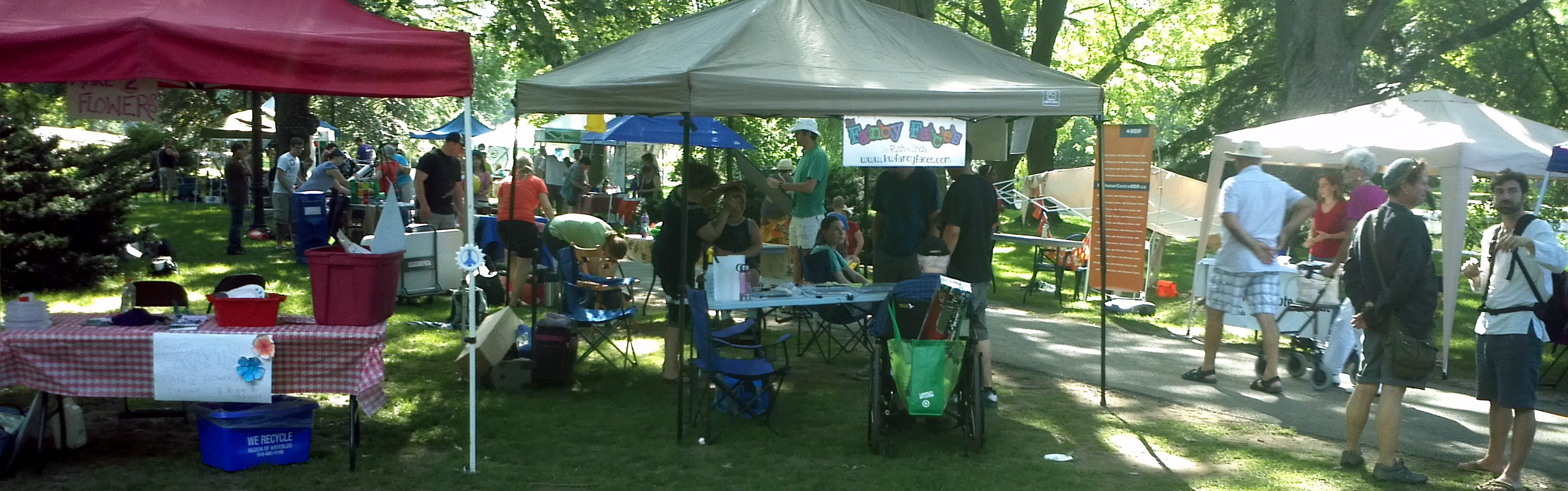 Booths at the Nonviolence Festival, 2013