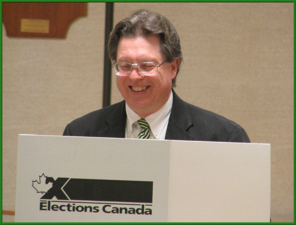 Because Canada uses a secret ballot, the next step is to step behind the privacy screen...