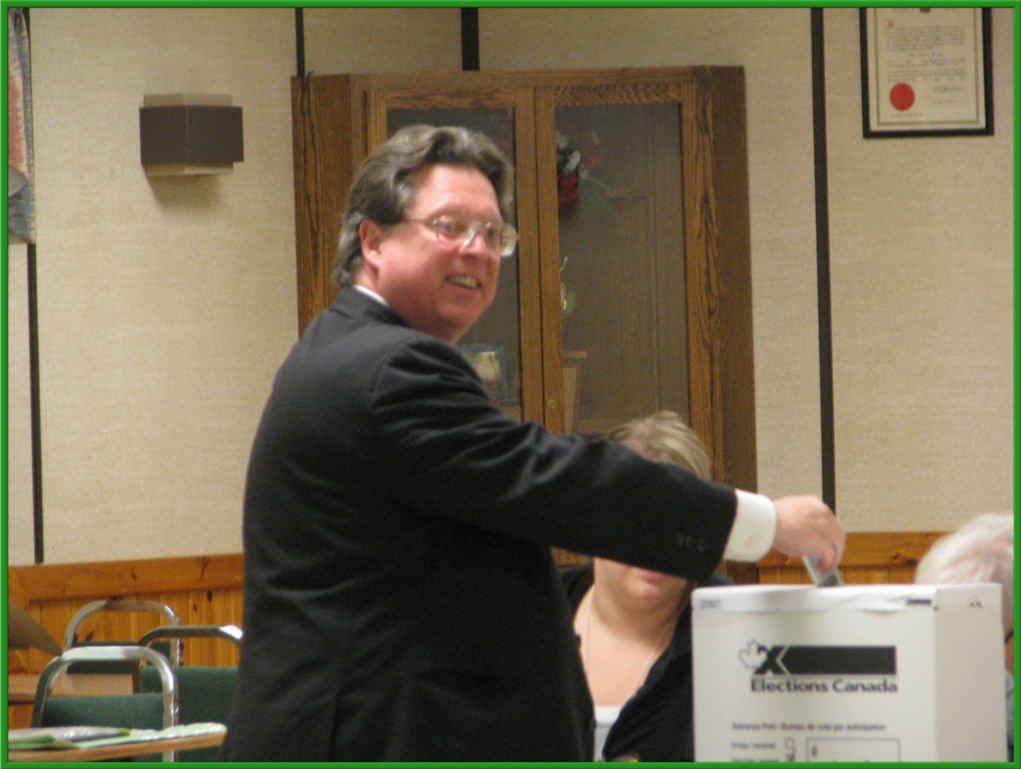 Because this is a secret ballot, the voter deposits the marked Ballot into the Ballot Box