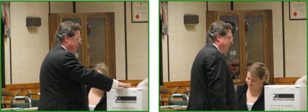 ...into the Ballot Box!    And you're done!