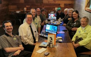 Brant Greens Campaign Team sitting around a restaurant table