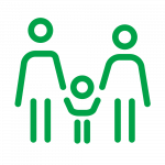Logo of two adults and a child holding hands