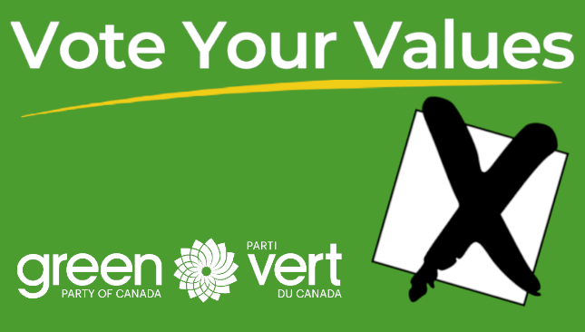 Vote Your Values GPC | Green Party of Canada | Parti Vert du Canada